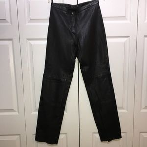 LEATHER BLACK LINED PANTS IN SIZE 12. VERY SOFT